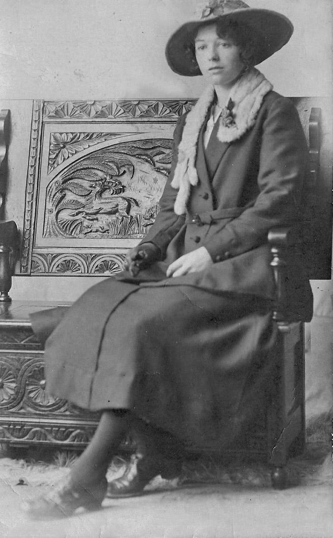 1918 or 1919 Grandma Annie Watkins, Smith edit 1 b&w