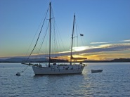 Sooke Harbour - at the end of a day on the ocean